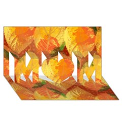 Fall Colors Leaves Pattern Mom 3d Greeting Card (8x4) by DanaeStudio