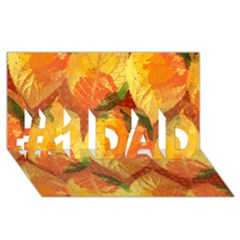 Fall Colors Leaves Pattern #1 Dad 3d Greeting Card (8x4) by DanaeStudio