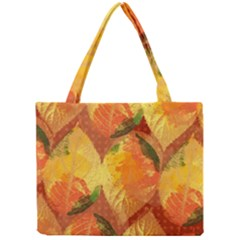 Fall Colors Leaves Pattern Mini Tote Bag by DanaeStudio