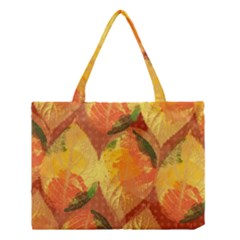 Fall Colors Leaves Pattern Medium Tote Bag by DanaeStudio
