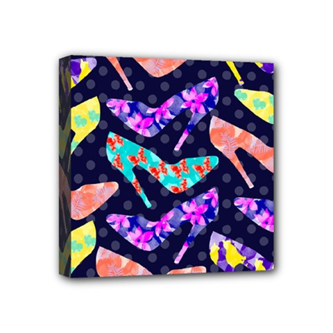 Colorful High Heels Pattern Mini Canvas 4  x 4