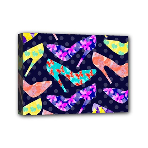 Colorful High Heels Pattern Mini Canvas 7  x 5