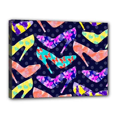 Colorful High Heels Pattern Canvas 16  x 12