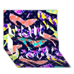 Colorful High Heels Pattern You Rock 3d Greeting Card (7x5) by DanaeStudio