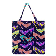 Colorful High Heels Pattern Grocery Tote Bag