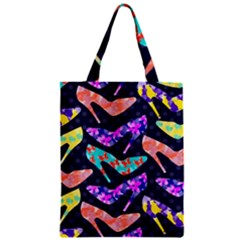 Colorful High Heels Pattern Zipper Classic Tote Bag by DanaeStudio