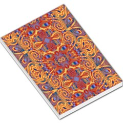 Oriental Watercolor Ornaments Kaleidoscope Mosaic Large Memo Pads
