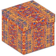 Oriental Watercolor Ornaments Kaleidoscope Mosaic Storage Stool 12