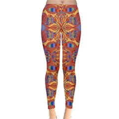 Oriental Watercolor Ornaments Kaleidoscope Mosaic Leggings