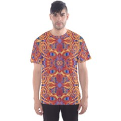 Oriental Watercolor Ornaments Kaleidoscope Mosaic Men s Sport Mesh Tee