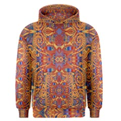 Oriental Watercolor Ornaments Kaleidoscope Mosaic Men s Pullover Hoodie