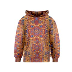 Oriental Watercolor Ornaments Kaleidoscope Mosaic Kids  Pullover Hoodie