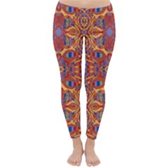 Oriental Watercolor Ornaments Kaleidoscope Mosaic Winter Leggings