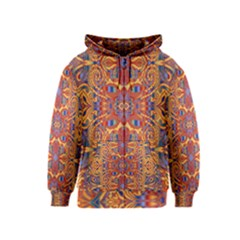 Oriental Watercolor Ornaments Kaleidoscope Mosaic Kids  Zipper Hoodie