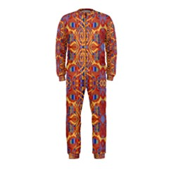 Oriental Watercolor Ornaments Kaleidoscope Mosaic OnePiece Jumpsuit (Kids)