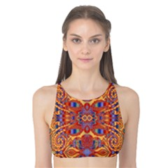 Oriental Watercolor Ornaments Kaleidoscope Mosaic Tank Bikini Top