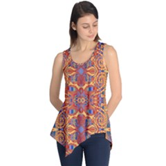 Oriental Watercolor Ornaments Kaleidoscope Mosaic Sleeveless Tunic