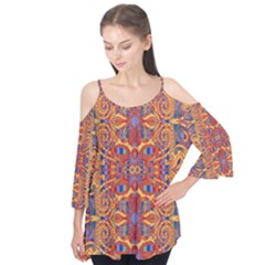 Oriental Watercolor Ornaments Kaleidoscope Mosaic Flutter Tees