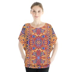 Oriental Watercolor Ornaments Kaleidoscope Mosaic Blouse