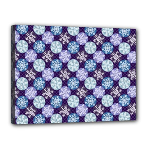 Snowflakes Pattern Canvas 16  X 12  by DanaeStudio