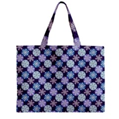 Snowflakes Pattern Zipper Mini Tote Bag by DanaeStudio