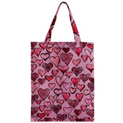 Artistic Valentine Hearts Classic Tote Bag by BubbSnugg