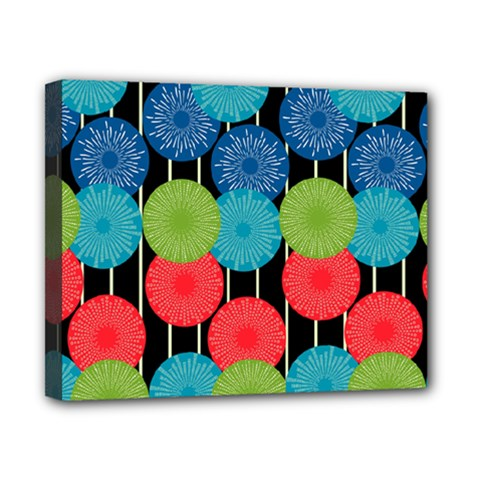 Vibrant Retro Pattern Canvas 10  x 8