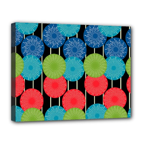 Vibrant Retro Pattern Canvas 14  x 11