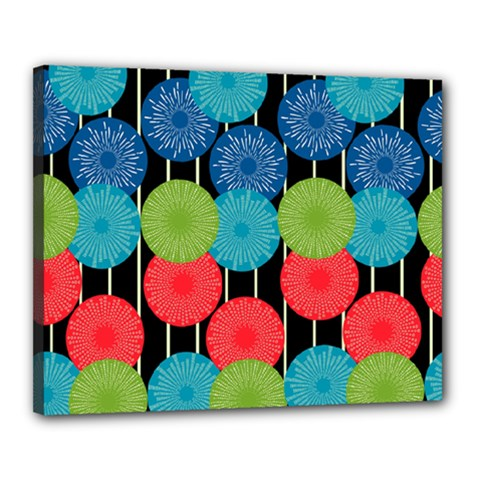 Vibrant Retro Pattern Canvas 20  x 16