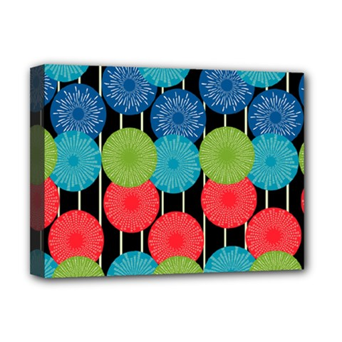 Vibrant Retro Pattern Deluxe Canvas 16  x 12