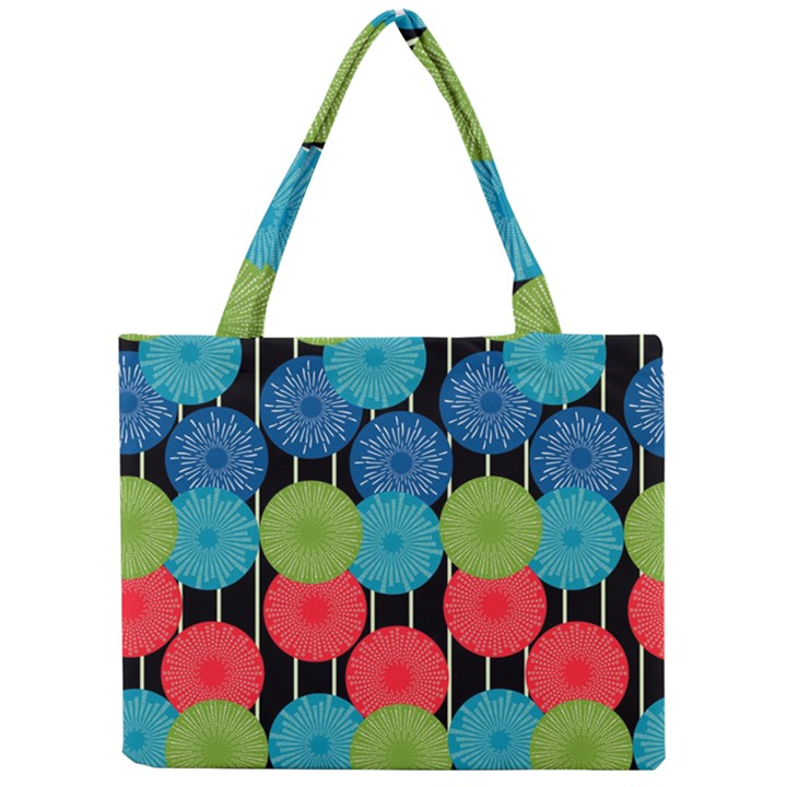 Vibrant Retro Pattern Mini Tote Bag