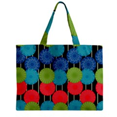 Vibrant Retro Pattern Zipper Mini Tote Bag
