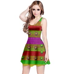 A Wonderful Rainbow And Stars Reversible Sleeveless Dress by pepitasart