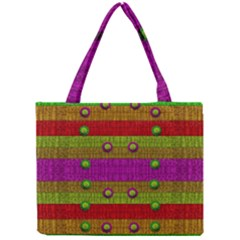 A Wonderful Rainbow And Stars Mini Tote Bag by pepitasart