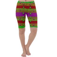 A Wonderful Rainbow And Stars Cropped Leggings