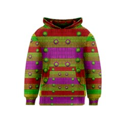 A Wonderful Rainbow And Stars Kids  Pullover Hoodie by pepitasart