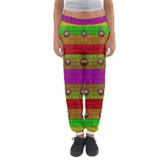 A Wonderful Rainbow And Stars Women s Jogger Sweatpants by pepitasart