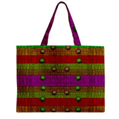 A Wonderful Rainbow And Stars Zipper Mini Tote Bag by pepitasart