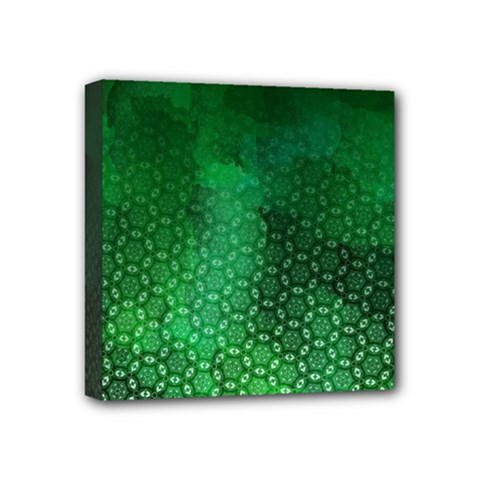 Ombre Green Abstract Forest Mini Canvas 4  X 4  by DanaeStudio