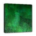 Ombre Green Abstract Forest Mini Canvas 8  x 8  View1