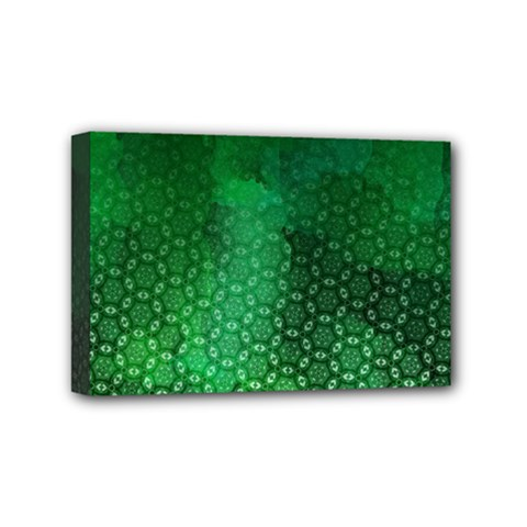 Ombre Green Abstract Forest Mini Canvas 6  X 4  by DanaeStudio
