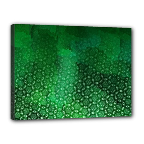 Ombre Green Abstract Forest Canvas 16  X 12  by DanaeStudio