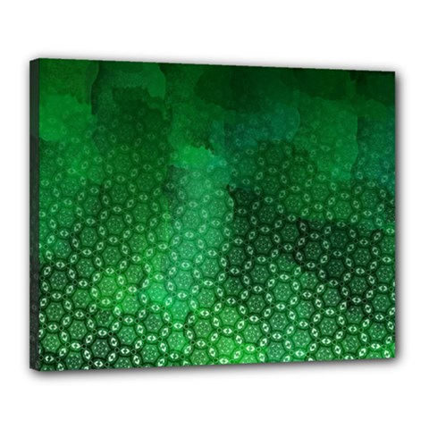 Ombre Green Abstract Forest Canvas 20  X 16  by DanaeStudio