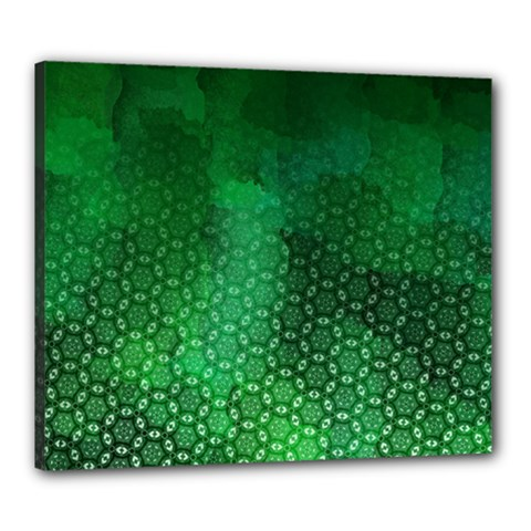 Ombre Green Abstract Forest Canvas 24  X 20  by DanaeStudio