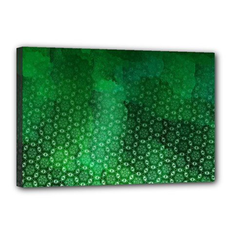 Ombre Green Abstract Forest Canvas 18  X 12  by DanaeStudio