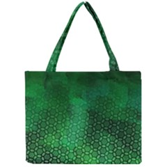 Ombre Green Abstract Forest Mini Tote Bag by DanaeStudio