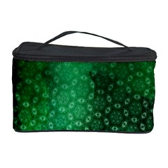 Ombre Green Abstract Forest Cosmetic Storage Case by DanaeStudio