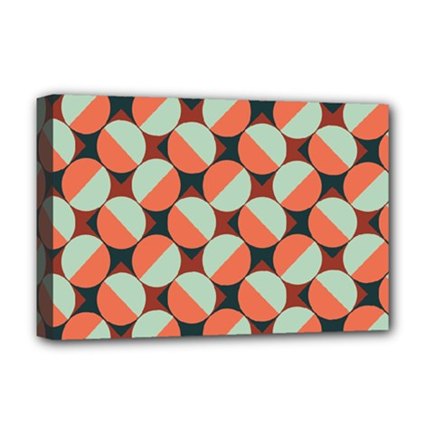 Modernist Geometric Tiles Deluxe Canvas 18  x 12