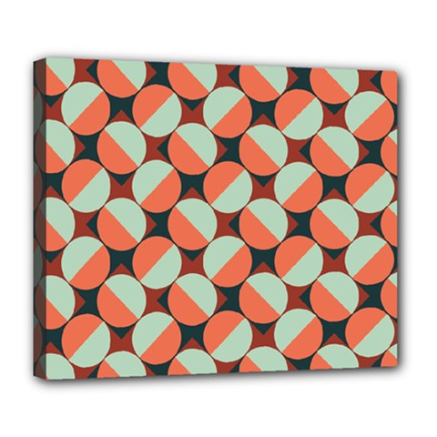 Modernist Geometric Tiles Deluxe Canvas 24  x 20