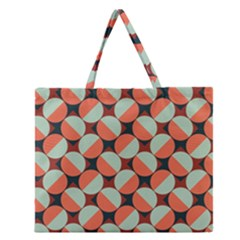 Modernist Geometric Tiles Zipper Large Tote Bag by DanaeStudio